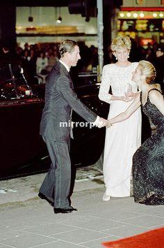 December 7, 1992: Prince Charles & Princess Diana at The Royal Variety Performance, Dominion Theatre, London.