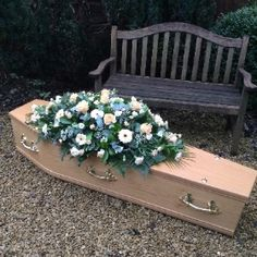 Rosina May flowers in Mangotsfield, Bristol is one of the leading floral design specialists in Bristol with over 20 years of experience. Funeral Caskets, Casket Sprays, Flower Spray, May Flowers, Coffin, Bristol, Pop Up, Floral Design, Pastel