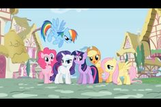 The Gang :  Twilight Sparkle :  Rarity :  Apple Jack / AJ :  Pinkie Pie :  Rainbow Dash :  Fluttershy :  ugh.. No butterflies !!! LOL!!