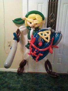 Link de The Legend of Zelda hecho con globos