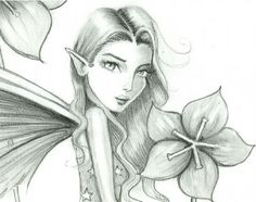 Fairies and Pixies | Pencil Fairy close up - by Molly Harrison from Gallery