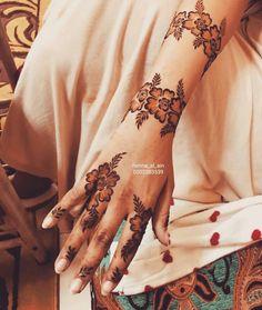 Modern Henna Designs, Henna Tattoo Designs Simple, Floral Henna Designs, Indian Henna Designs, Finger Henna Designs, Henna Art Designs, Mehndi Designs For Girls, Beautiful Henna Designs, Latest Mehndi Designs