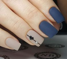 A manicure is a cosmetic elegance therapy for the finger nails and hands. A manicure could deal with just the hands, just the nails, or Heart Nail Designs, Acrylic Nail Designs, Nail Art Designs, Nails Design, Valentine Nail Designs, Acrylic Nails, Valentine Nails, Matte Gel Nails, Blue Matte Nails