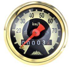 Tachometer - Ø48mm - Ziffernblatt schwarz/ hellelfenbein Simson Limitiert
