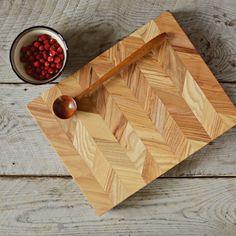 Ash cutting board and a teak serving spoon #emanueldesign