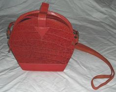 $47.00 Dare To Be Different.. Fabulous Unique Leather Bag.. One Of A Kind.. Free Shipping