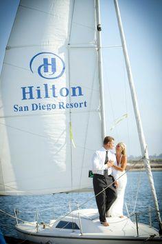 Sail away #hiltonwedding #beachwedding #sandiegowedding