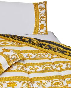 Get free shipping on Versace Barocco & Robe King Comforter at Neiman Marcus. Shop the latest luxury fashions from top designers. Donatella Versace, Gianni Versace, Versace Bedding, Art Deco Bedroom, Kids Clothes Boys, Greek Key, King Comforter, Home Buying, Sexy Dresses