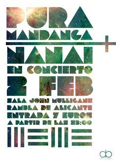 Diseño de cartel para concierto de Pura Mandanga.