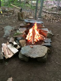 Keyhole fire pit with oven. Made this with the kids.