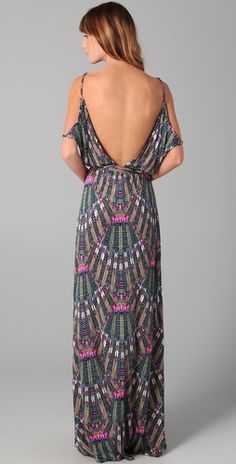 full length dress with a low cut back