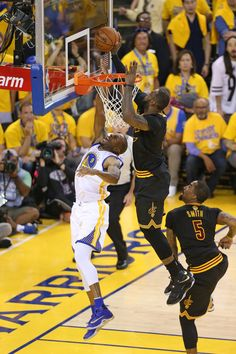 Every Photo We Could Find Of LeBron Blocking Shots In The Finals