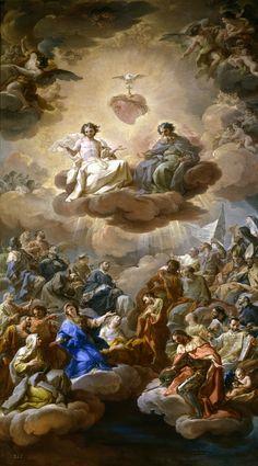 Corrado Giaquinto (Italian 1703–1756) [Baroque, Rococco] The Holy Trinity, 1754. Museo del Prado, Madrid. – The Athenaeum