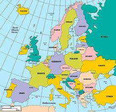 map of uk and europe