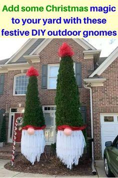 Christmas Yard Decorations, Christmas Lights, Christmas Holidays, Christmas Wreaths, Holiday Decor, Christmas Projects, Christmas Crafts, Christmas Ideas, Christmas Knomes