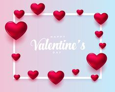 Realistic valentines day greeting card | Free Vector #Freepik #freevector #background #poster #abstract #heart Valentines Balloons, Valentines Day Background, Valentines Day Greetings, Valentine Greeting Cards, Valentine's Day Greeting Cards, Greeting Card Template, Valentines Day Hearts, Valentine Day Love, Love Balloon