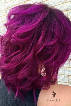 #Color  Trendy Hair Color : Magenta hair color is perfect for daring ladies who are not scared of experiment...