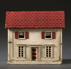 Vintage Doll House | From a unique collection of antique and modern toys at https://www.1stdibs.com/furniture/folk-art/toys/