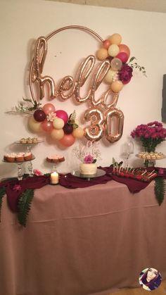 35 Trendy ideas party invitations diy wedding Simon 30 35 Trendy ideas party invitations d 30th Birthday Party For Her, 30th Birthday Themes, 30th Birthday Ideas For Women, Birthday Party Decorations For Adults, 30th Party, Birthday Woman, 30th Birthday Balloons, Diy 40th Party Decorations, Birthday Cake