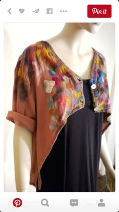 Love the jacket - colors and cut. Wholesale Reserve Cherish Boutique by  VonksArt on Etsy ( unique idea. You could add this to any simple shirt. 146f716ac90