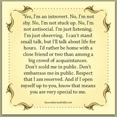 Lessons Learned in Life | Yes, I'm an introvert.