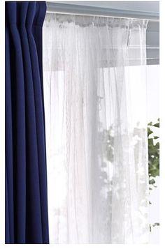teresia sheer curtains, 1 pair, white | sheer curtains