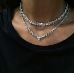 Diamond Necklace Visit Bjc Al-Aali Mall for Maria Gaspari's latest collection Diamond Solitaire Necklace, Diamond Pendant Necklace, Diamond Bracelets, Diamond Jewelry, Diamond Choker, Diamond Bar, Silver Bracelets, Diamond Rings, Silver Ring