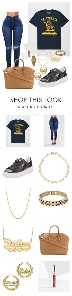 """Going back to Cali"" by imanifashions ❤ liked on Polyvore featuring Riot Society, Puma, Sterling Essentials, Rollie, Givenchy and American Apparel"