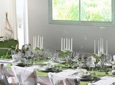 Table de mariage nature verte