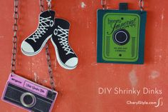 create your own Shrinky Dinks jewelry & accessories with our #free #templates & artwork | CherylStyle.com