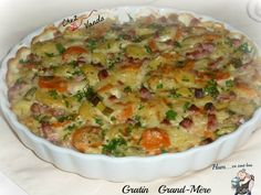 Gratin Grand Mère Weight Watchers Menu, Weigh Watchers, Bechamel, Healthy Dinner Recipes, Low Carb Recipes, Musaka, My Best Recipe, Potato Dishes, 100 Calories