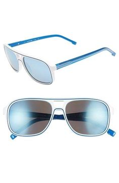 944a91b308 Lacoste+57mm+Aviator Lacoste+57mm+Aviator+Sunglasses+available+at+