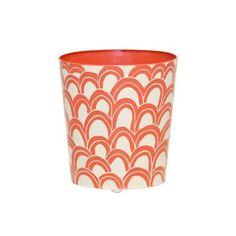 Worlds Away Oval Wastebasket Orange/Navy Cream – Matthew Izzo Home