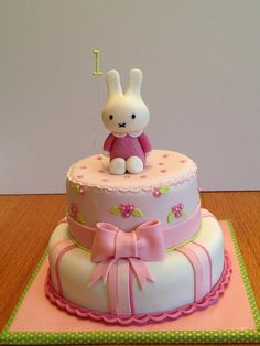 miffy first birthday cake - but other colors!