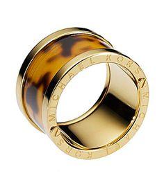 I want! | Michael Kors Tortoise Barrel Ring