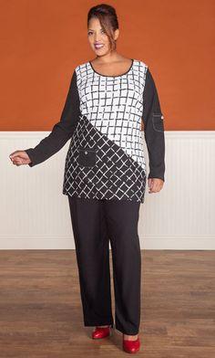 CLAUDIA TUNIC / MiB Plus Size Fashion for Women / Fall Fashion / Professional / Plus Size Tunic