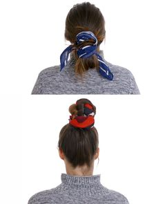 Learn how to use a silk scarf to tie up two beautiful hair styles here. #hairstyles #silkscarf #scarfideas #hairideas