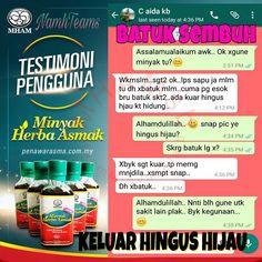 testimoni Minyak Herba Asmak yang juga sesuai dijadikan penawar asma pada bayi dan orang dewasa.