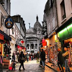 Montmartre streets in Paris - one of the best nights I have ever had. August 2013 with PC, Barlings and Howell and Janette