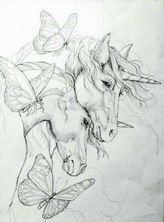 2018/04/26 Unicorns and Butterflies Sketch