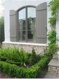 grey shutters and panes