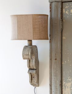 Corbel Farmhouse Lamp Pair - This Corbel Farmhouse Wall Lamp will leave you speechless! Cast Resin Lampwork with Burlap Shade.Sold as a set of watt Lightbulb x x Farmhouse Lamps, Farmhouse Bedroom Decor, Antique Farmhouse, Farmhouse Lighting, French Farmhouse, Modern Farmhouse, Headboard Shapes, Faux Fireplace Mantels, Basement Fireplace