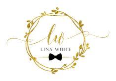 DIGITAL Custom logo design bow logo gold Logo circle round