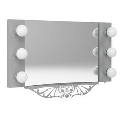 Floating Starlet Lighted Vanity Mirror from Vanity Girl Hollywood