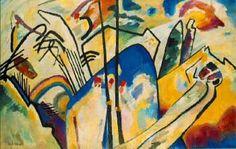 """Kandinsky, Vasily """"Composición IV"""" Expresionista importante, líder del grupo Der Blaue Reiter y teórico del arte que se convirtió en un pionero decisivo de la pintura abstracta."""