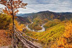 Autumn view of the Rhodope Mountains, Bulgaria