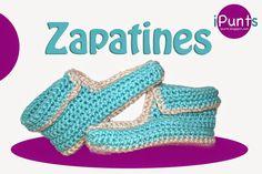 Zapatillas: Patrón y videotutorial gratis en iPunts.