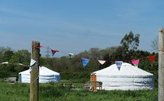 Somerset Yurts - eco-friendly glamping retreat situated in a working Dairy Farm in the Quantock Hills, Somerset
