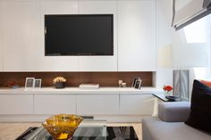 Penthouse, Living Room Media Unit   JHR Interiors