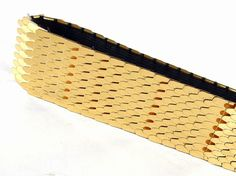Vintage 1980's Gold Fish Scales Stretch Belt, Modern Sizes 2 to 6, XS to Small